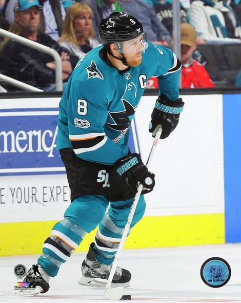 Joe Pavelski San Jose Sharks 8x10 Photograph
