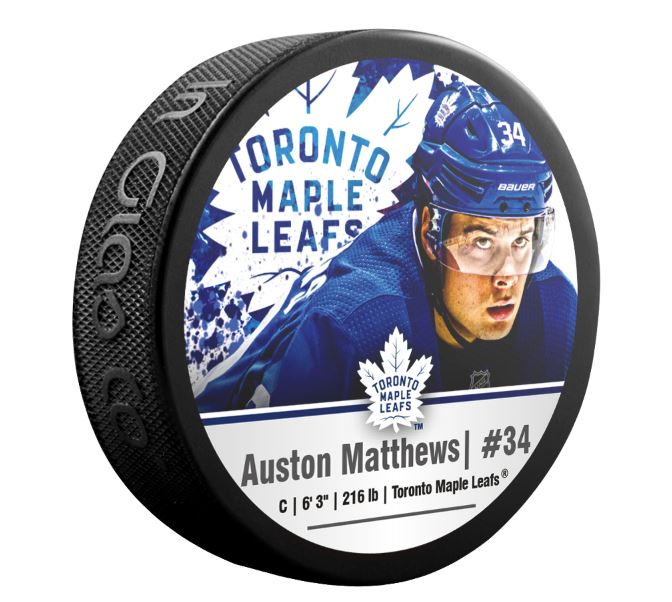 Auston Matthews Toronto Maple Leafs Superstar Puck