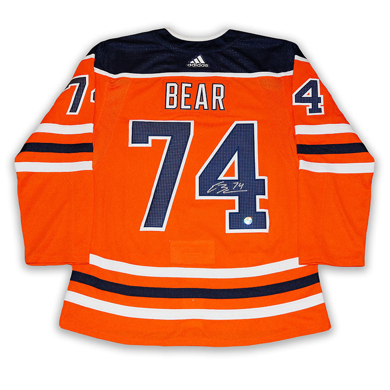Ethan Bear Edmonton Oilers Autographed Home Pro Jersey