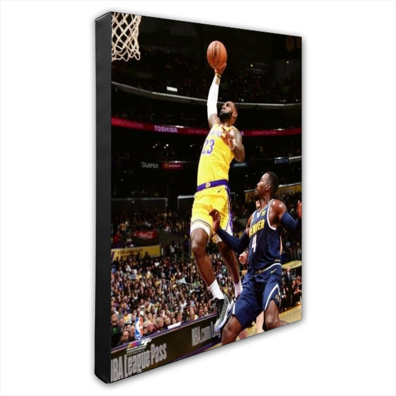 Lebron James Los Angeles Lakers 16x20 Stretched Canvas