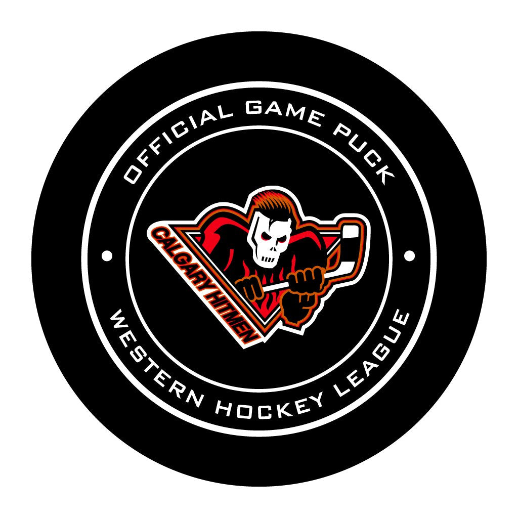 Calgary Hitmen Official WHL Game Puck