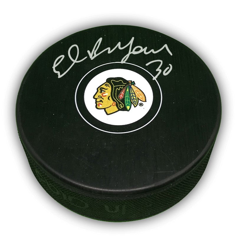 Ed Belfour Chicago Blackhawks Autographed Puck