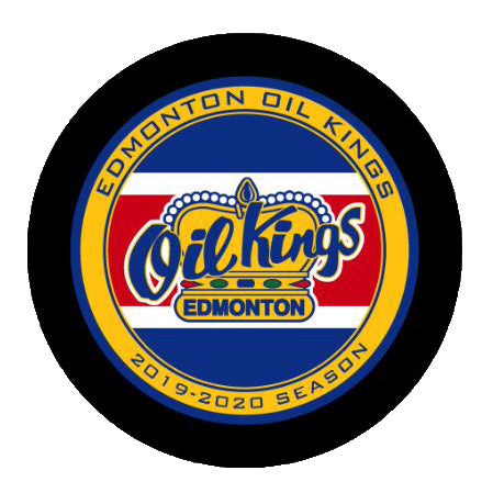 Edmonton Oil Kings Retro Official WHL Game Puck