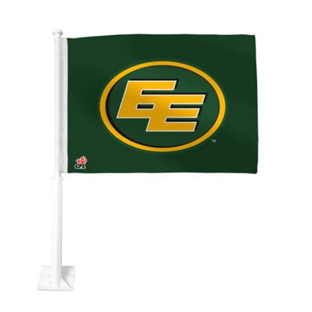 Edmonton Eskimos Green Car Flag