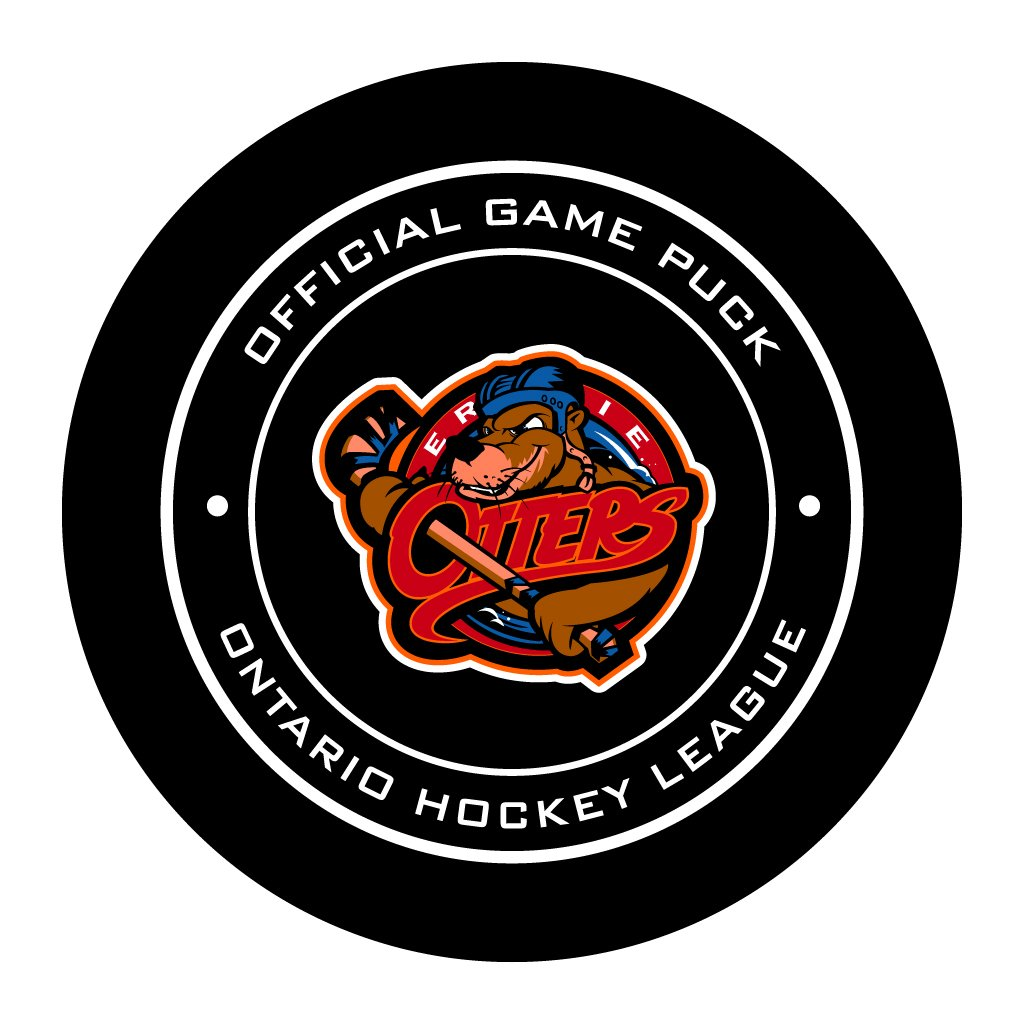 Erie Otters Official OHL Game Puck
