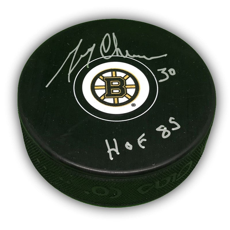 Gerry Cheevers Boston Bruins Autographed Puck