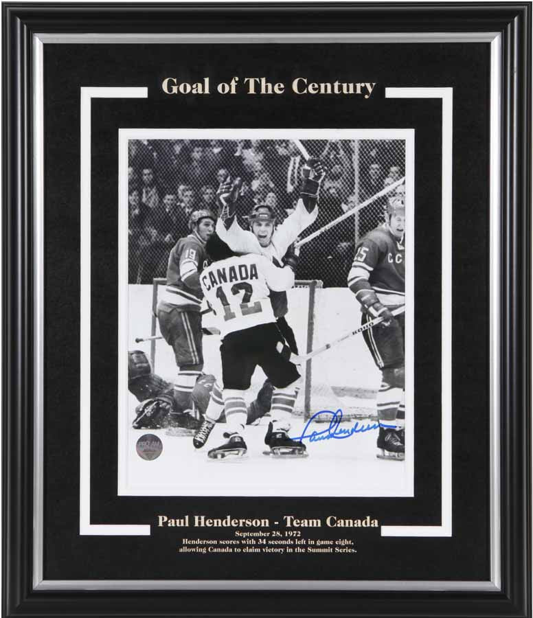Paul Henderson - Goal of The Century Signed 16x20 Photo