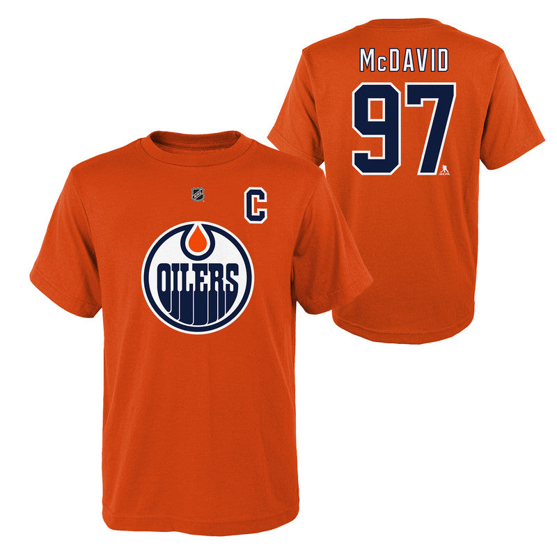 Youth Connor McDavid Name & Number Tee