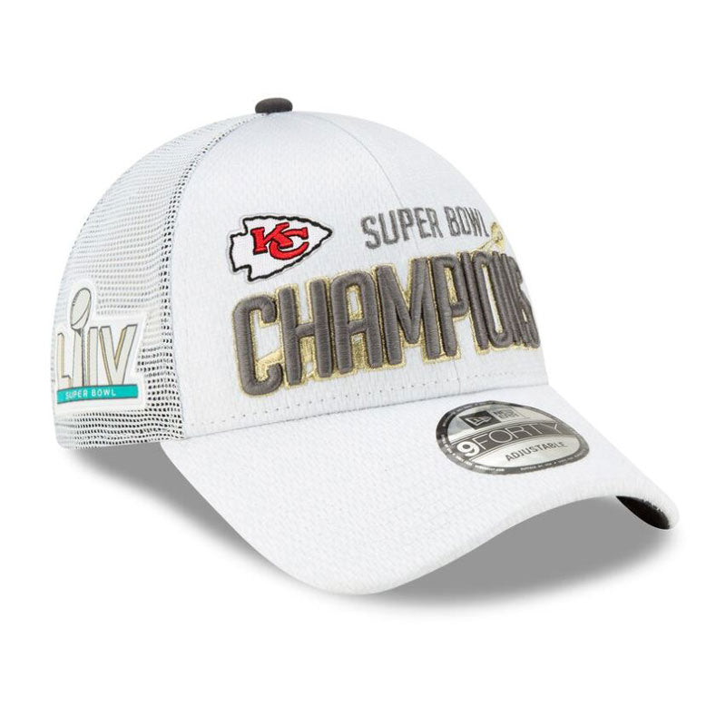 Kansas City Chiefs New Era 9Forty Super Bowl LIV Champions Locker Room Hat