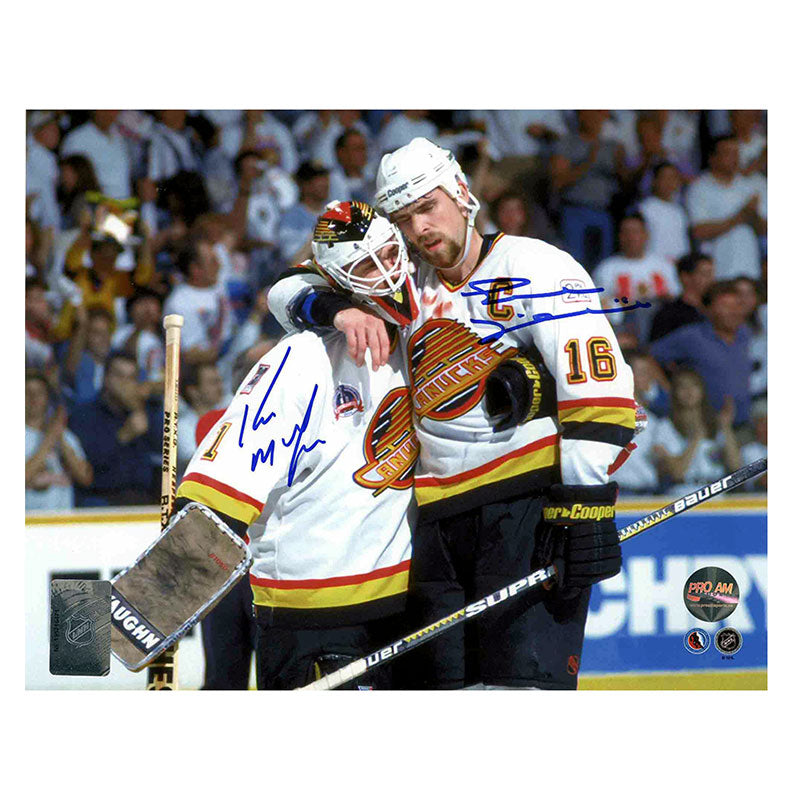 Kirk McLean & Trevor Linden Dual Signed 8x10 Photo