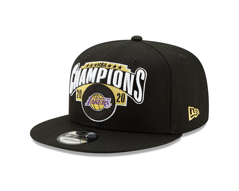Los Angeles Lakers New Era 9Fifty 2020 NBA Champions Locker Room Hat