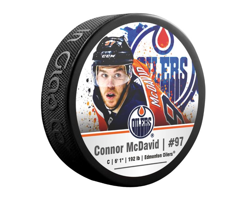 Connor McDavid Edmonton Oilers Superstar Puck
