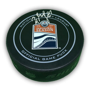 Milan Lucic Edmonton Oilers Autographed Official NHL Game Puck