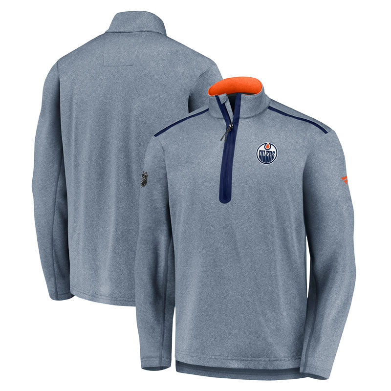 Edmonton Oilers Authentic Pro Travel & Training 1/4 Zip