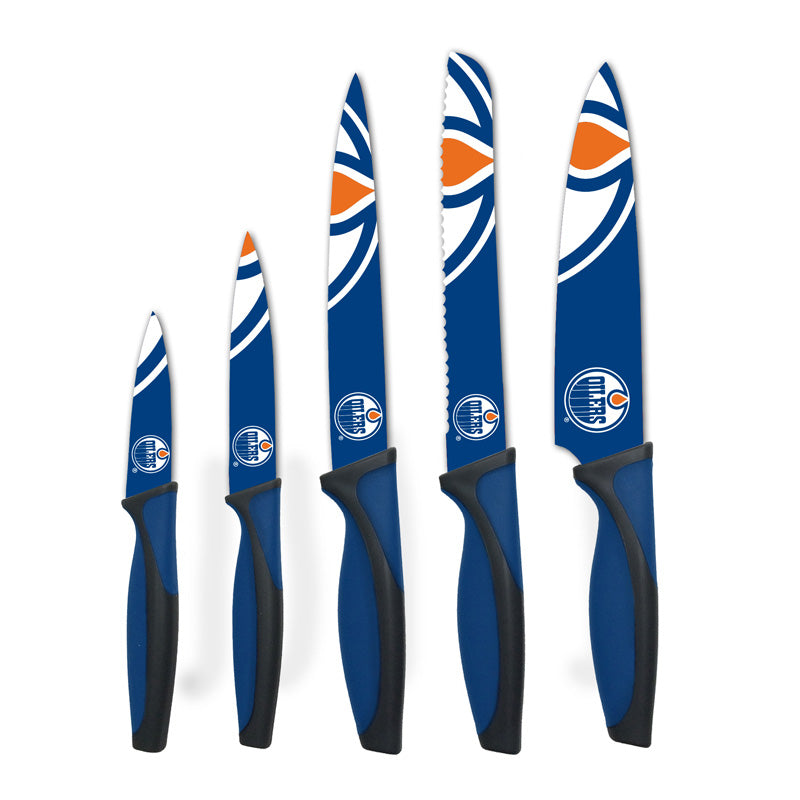 Edmonton Oilers Kitchen Knives Set