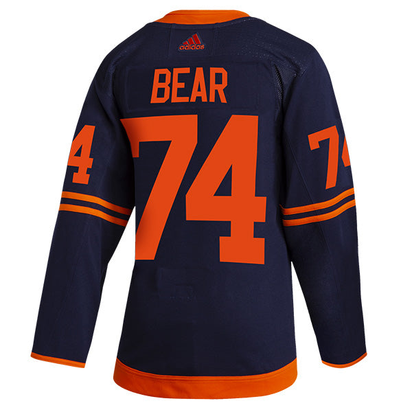 Ethan Bear Edmonton Oilers NHL adidas Authentic Pro Alternate Jersey with On Ice Cresting