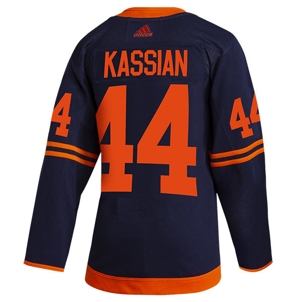 Zack Kassian Edmonton Oilers NHL adidas Authentic Pro Alternate Jersey with On Ice Cresting