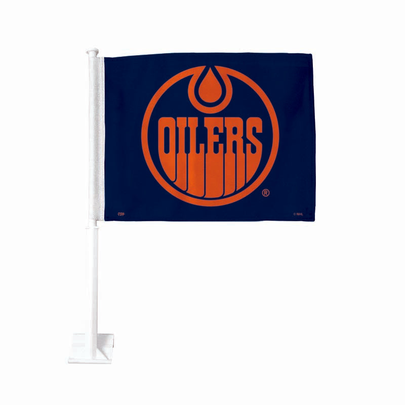 Edmonton Oilers Alternate Navy Car Flag