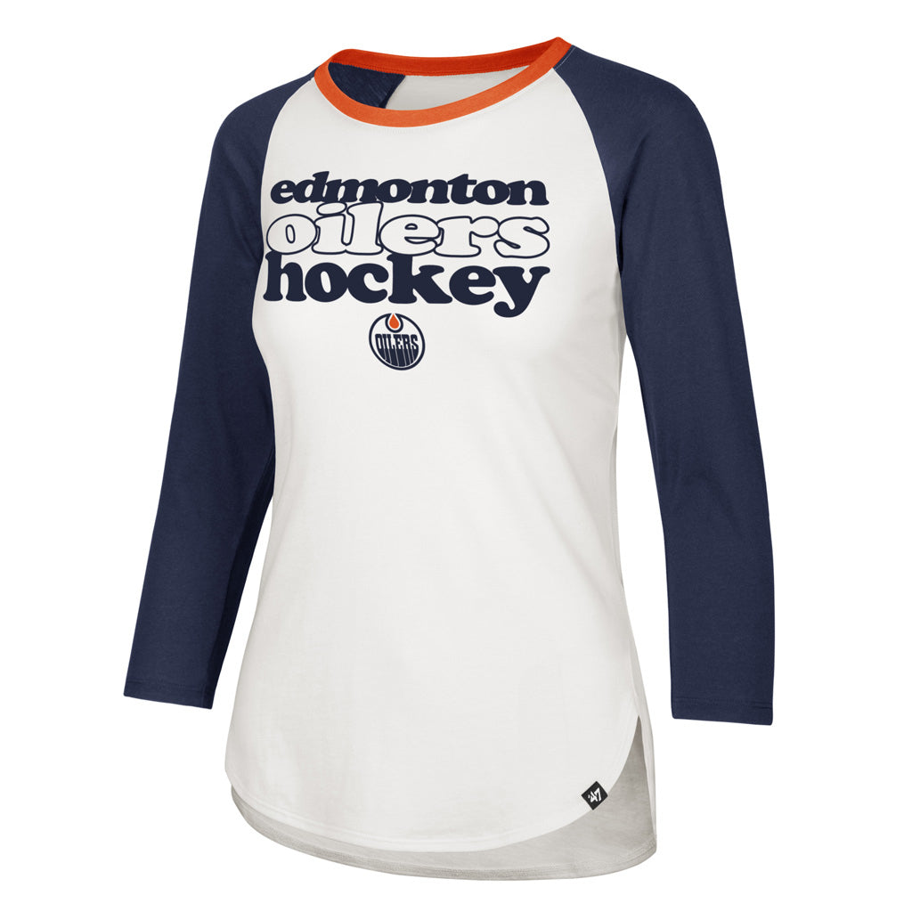 Edmonton Oilers Women's '47 Hollow Stack Splitter Raglan Tee