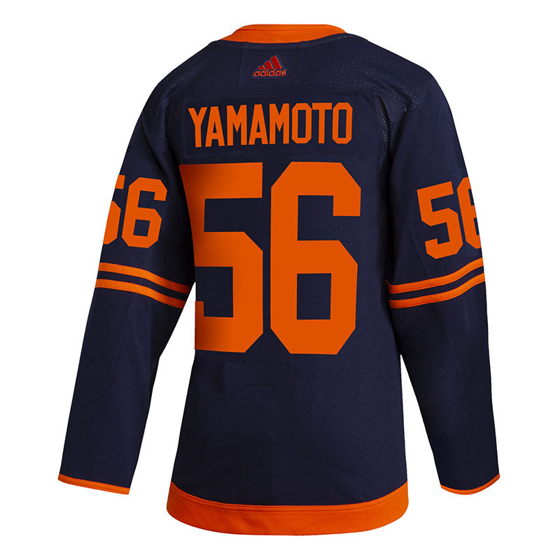 Kailer Yamamoto Edmonton Oilers NHL adidas Authentic Pro Alternate Jersey with On Ice Cresting