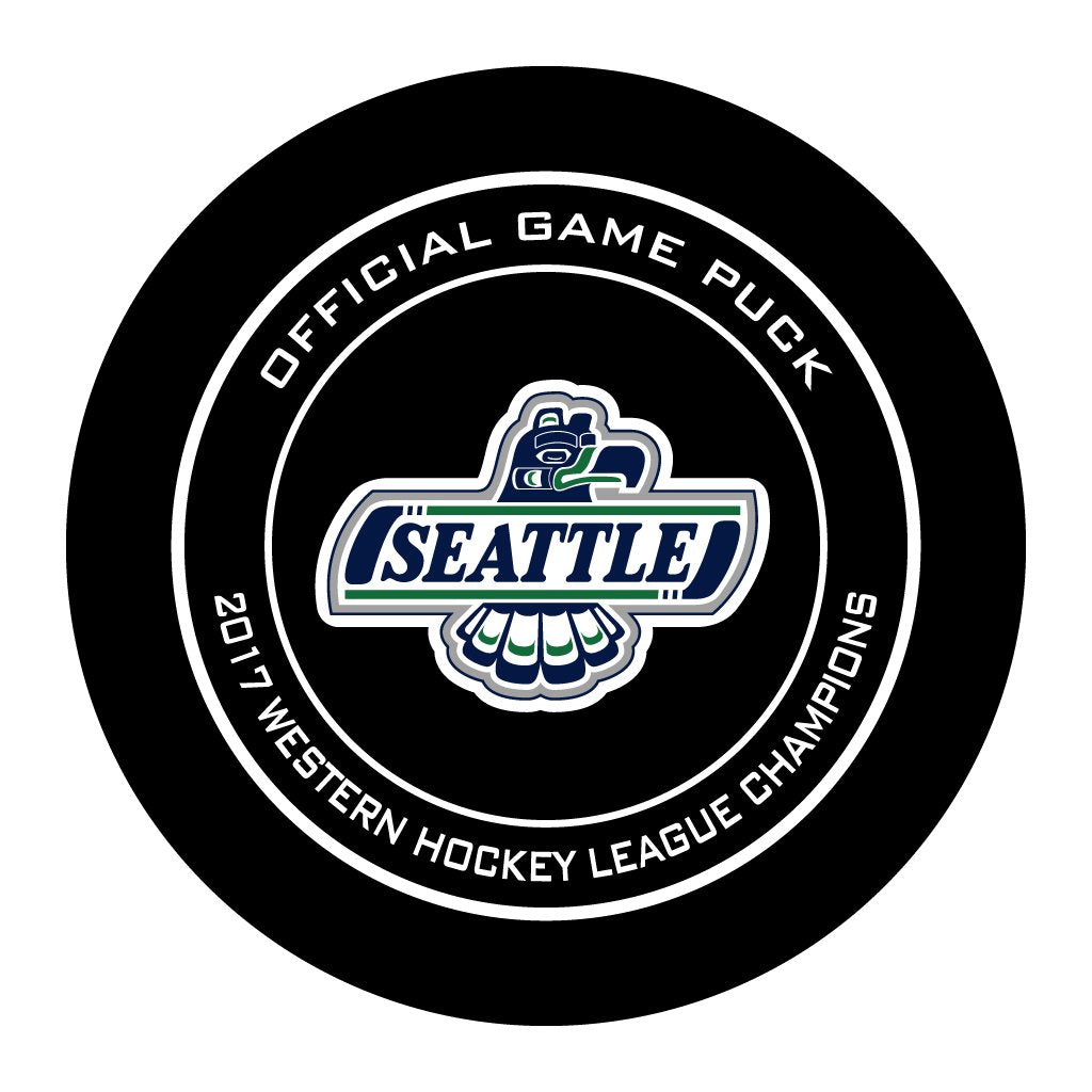 Seattle Thunderbirds 2017 WHL Champions Official WHL Game Puck