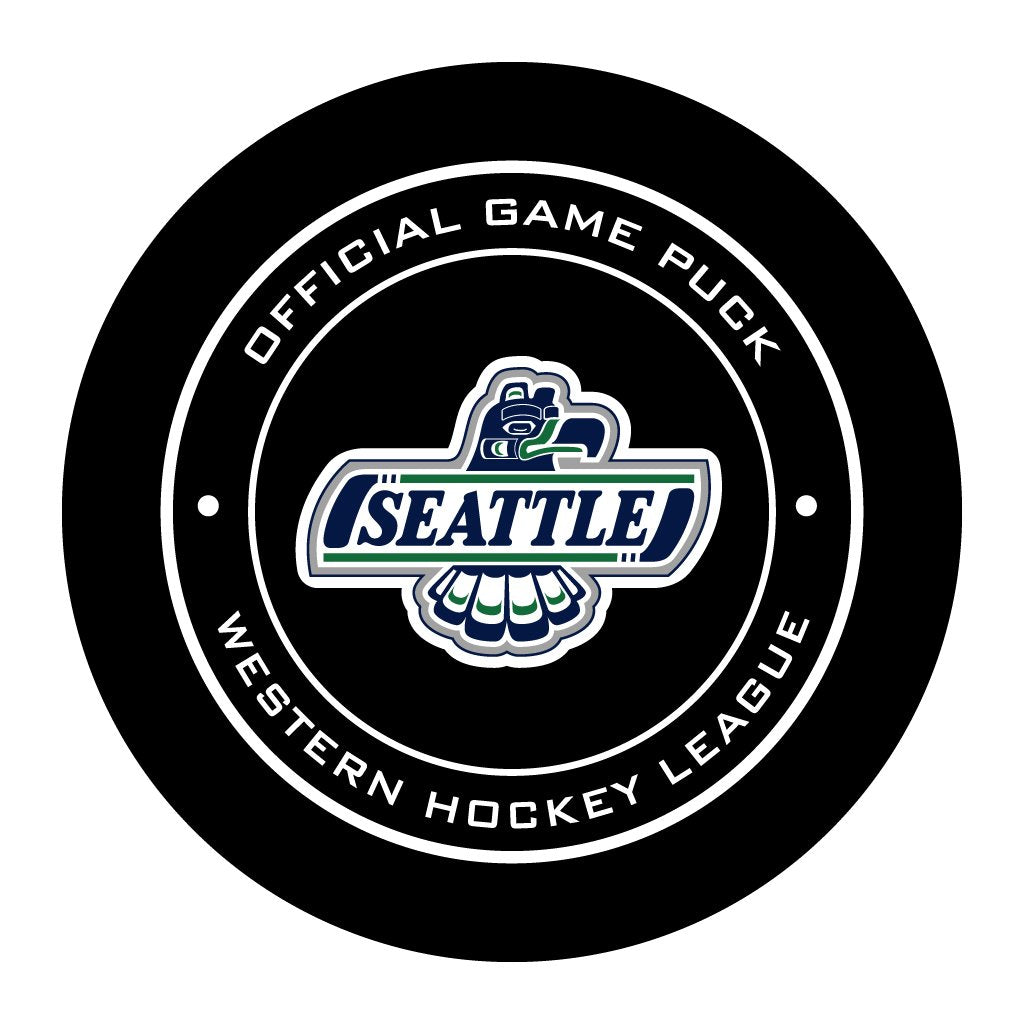 Seattle Thunderbirds Official WHL Game Puck