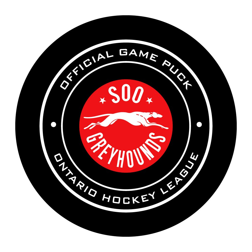 Soo Greyhounds Official OHL Game Puck
