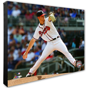 Mike Soroka Atlanta Braves 24x30 Stretched Canvas