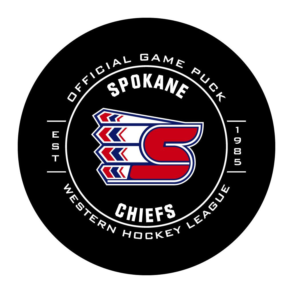 Spokane Chiefs Official WHL Game Puck
