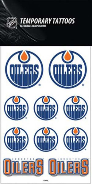 Edmonton Oilers Temporary Tattoo Sheet
