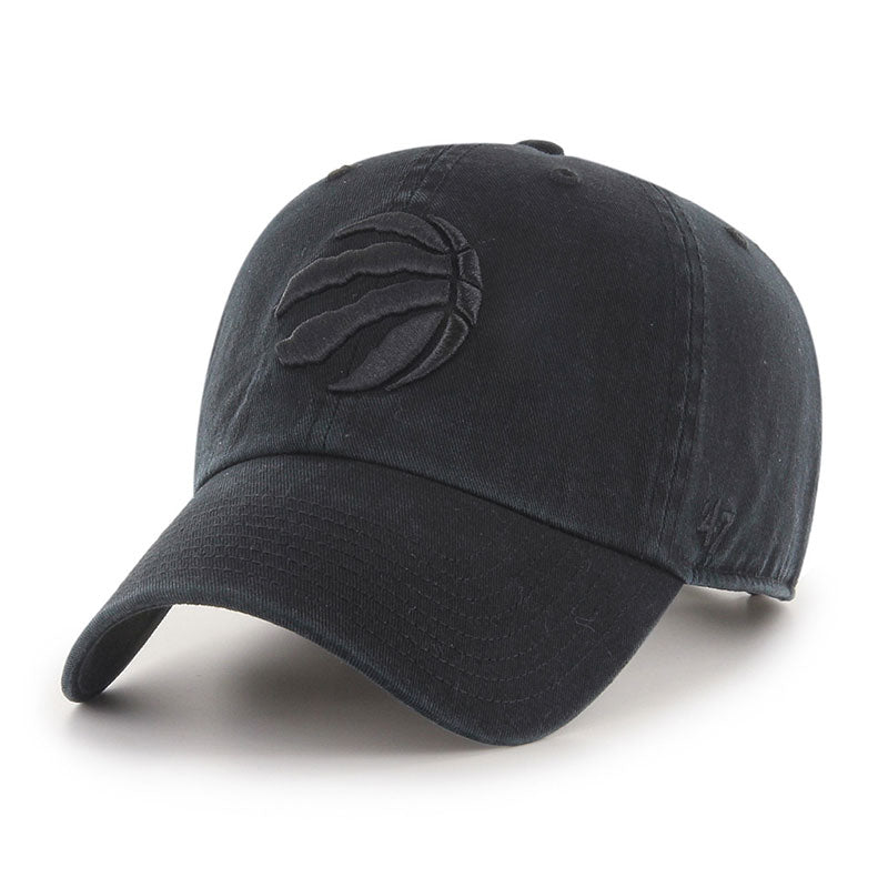 Toronto Raptors Black on Black '47 Clean Up Cap