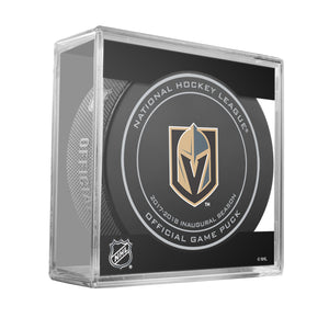 Vegas Golden Knights Inaugural Season 2017-2018 Official NHL Game Puck
