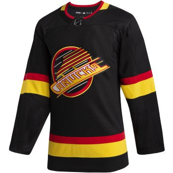 Vancouver Canucks NHL Authentic Pro Vintage Black Skate Jersey