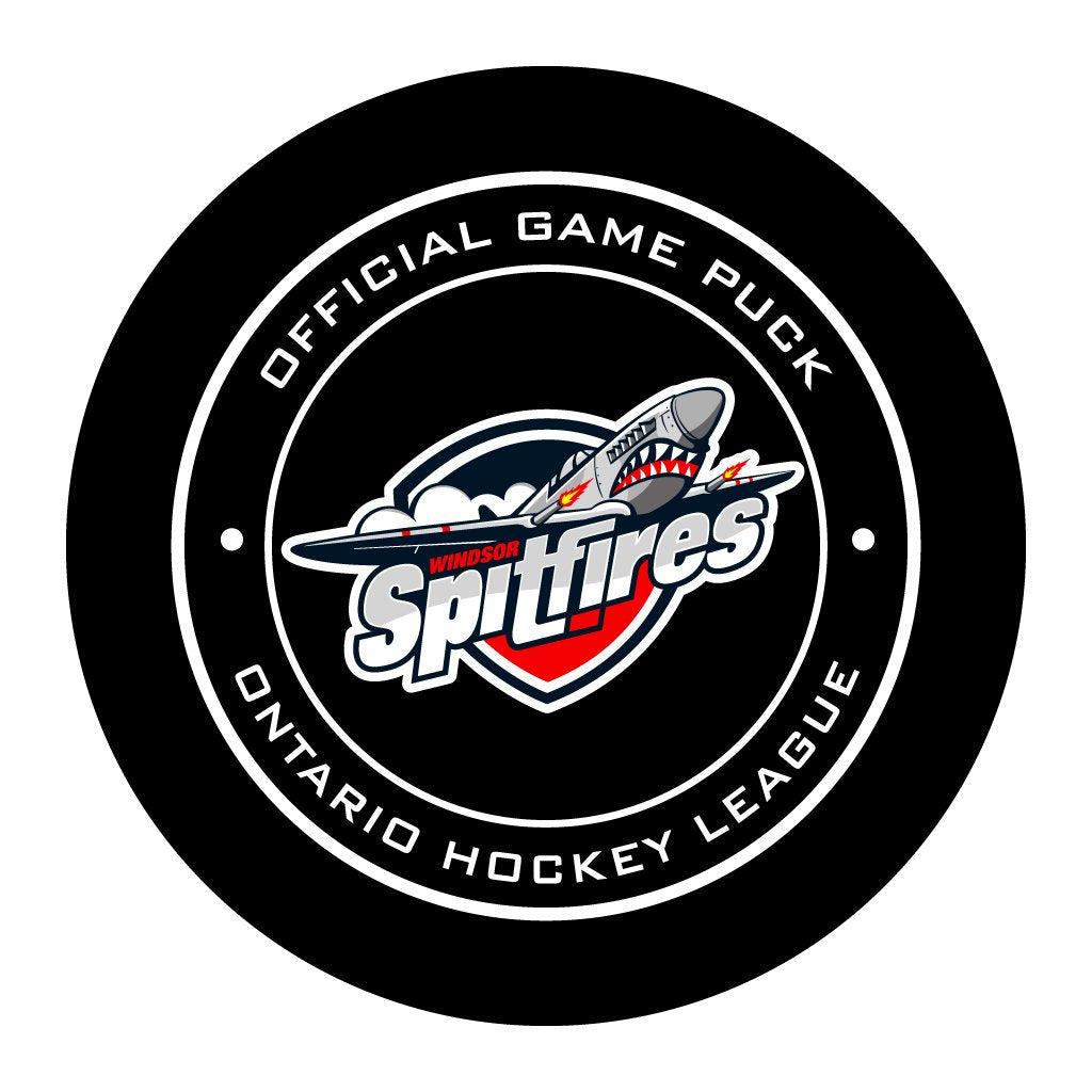 Windsor Spitfires Official OHL Game Puck