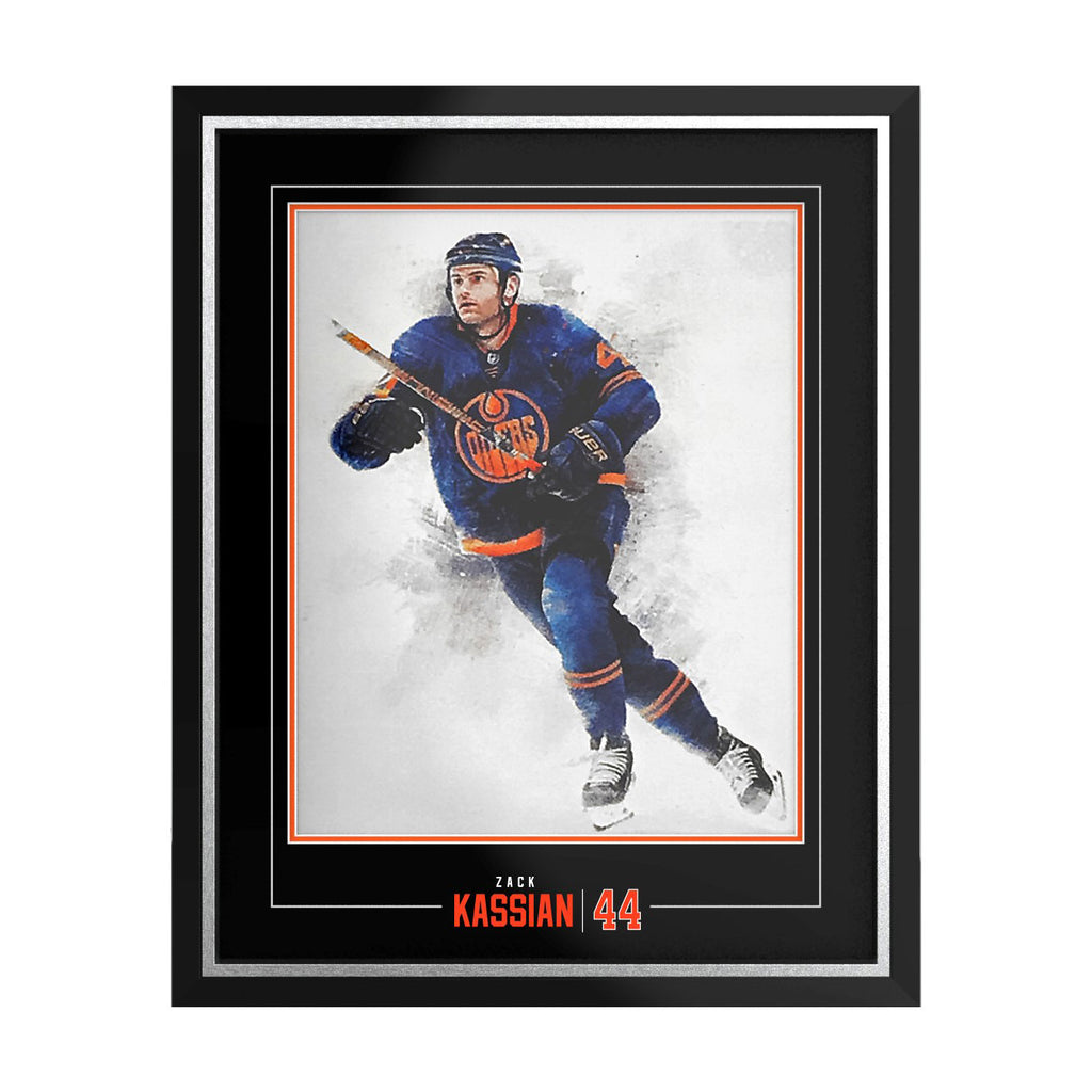 Framing Package for YOUR 19-20 Oilers Zack Kassian Season Ticket Holder Litho