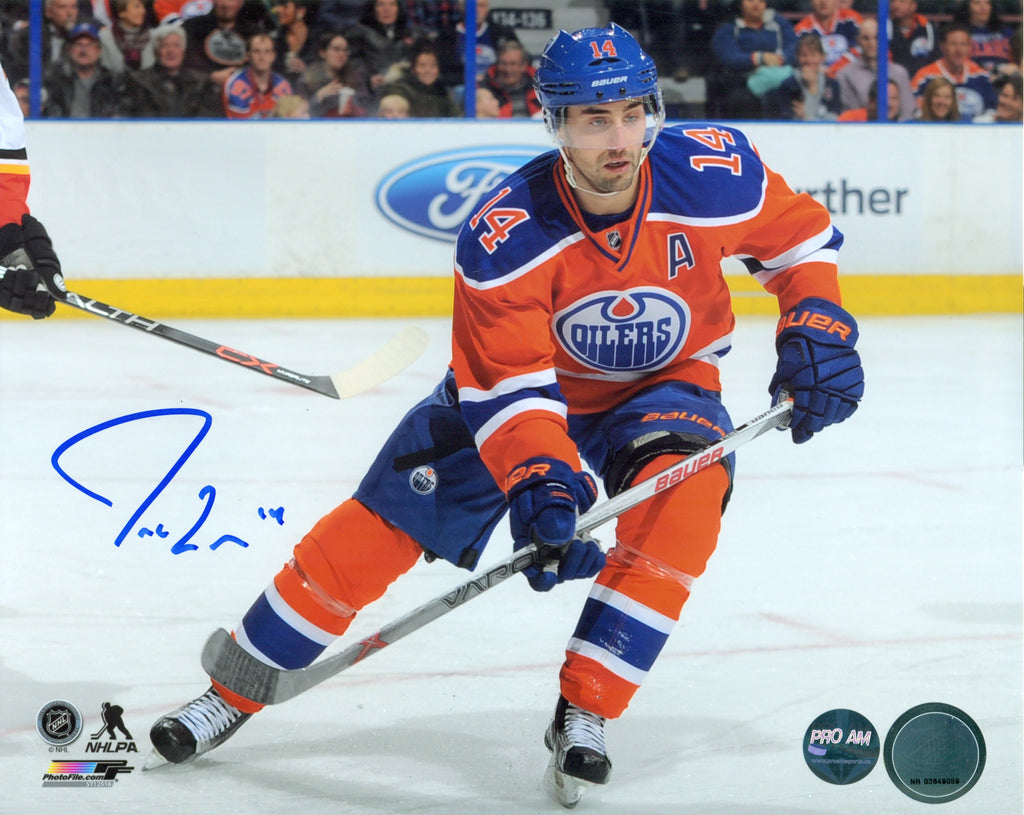 66070462a Jordan Eberle Edmonton Oilers Autographed 8x10 Photo – Pro Am Sports