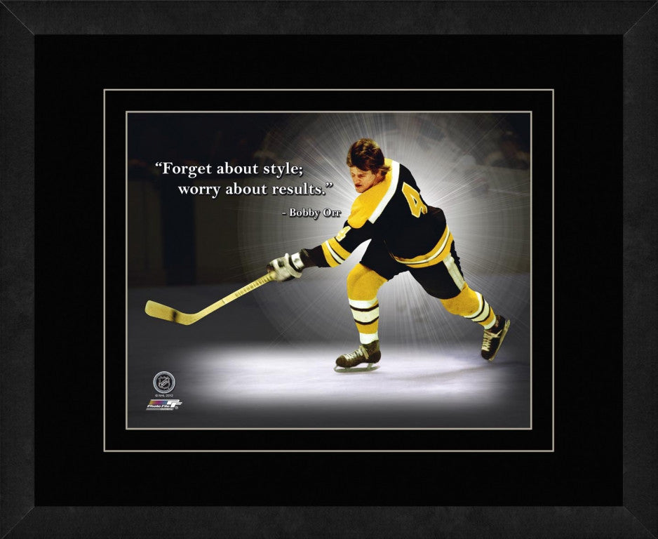 Bobby Orr Boston Bruins Framed 11x14 Pro Quote