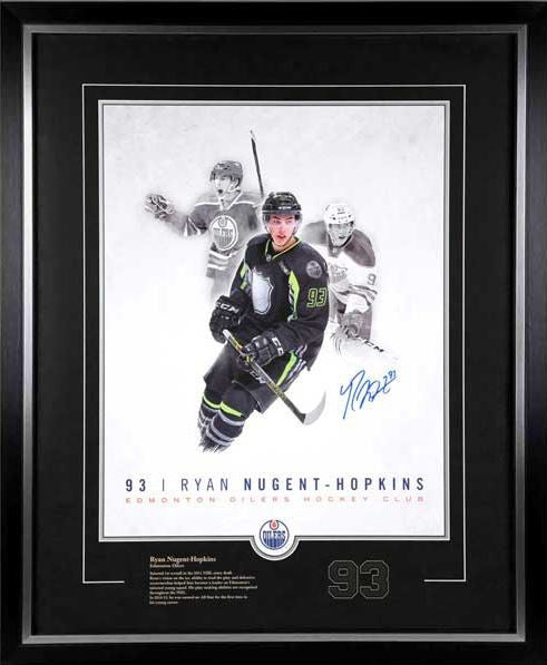 Ryan Nugent-Hopkins Signed Edmonton Oilers 2014-15 Season Seat Holder Litho Frame