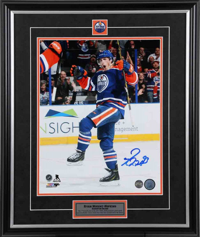 Ryan Nugent-Hopkins Edmonton Oilers - The Kick - Signed 8x10 Photo