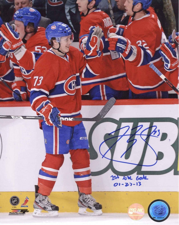 Brendan Gallagher Montreal Canadiens Autographed 11x14 Photo w/ 1st Goal Inscription