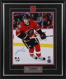 Sean Monahan Calgary Flames Looking Up Ice Signed 11x14 Photo
