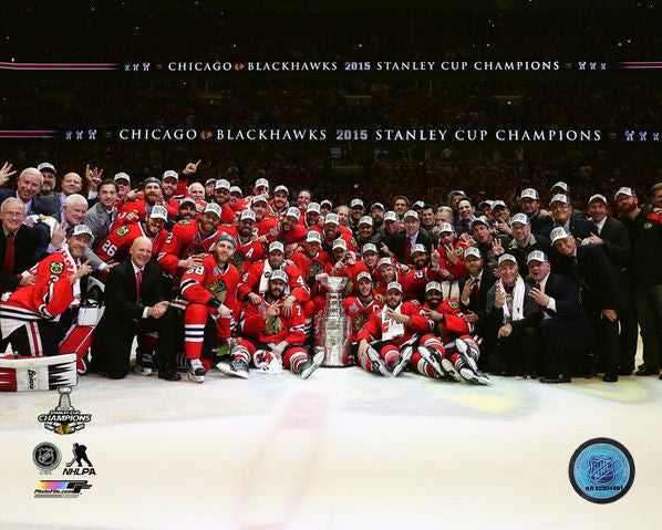 Chicago Blackhawks 2015 Stanley Cup Team 8x10 Photograph