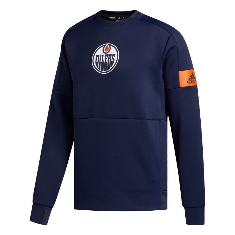 Edmonton Oilers adidas Navy Game Mode Crew