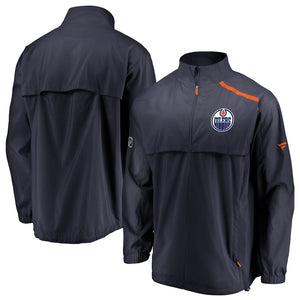 Edmonton Oilers Authentic Pro Rinkside Full-Zip Mock Neck Jacket