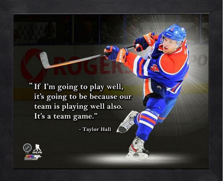 Taylor Hall Edmonton Oilers 11x14 Pro Quote