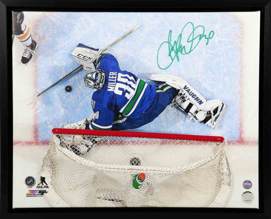 Ryan Miller Vancouver Canucks Autographed 16x20 Canvas Frame