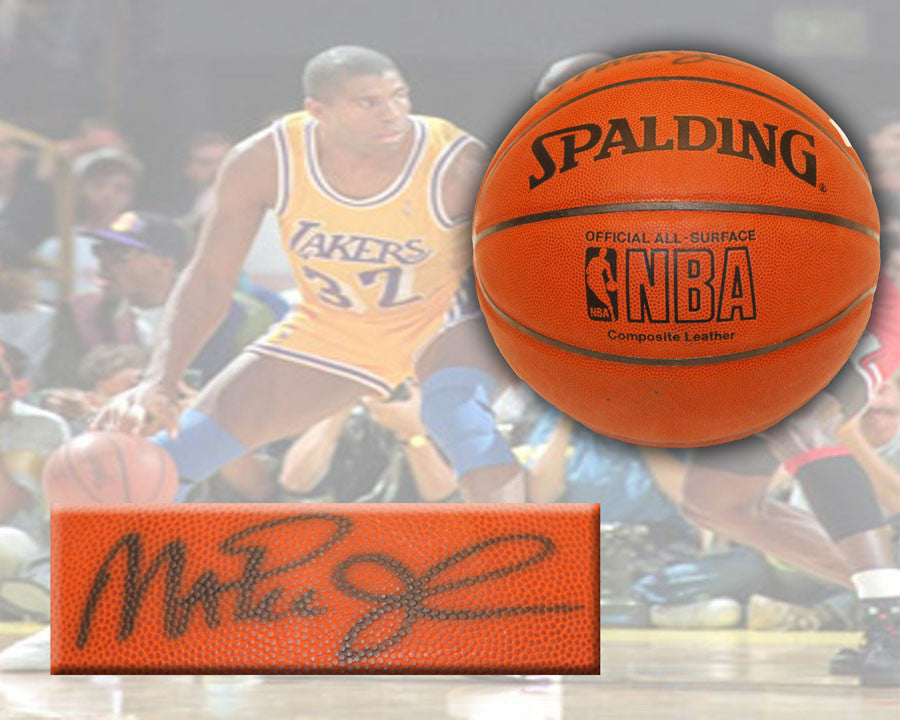 Ervin Magic Johnson Signed Basketball