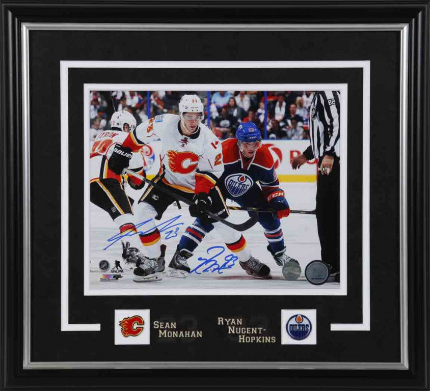 Ryan Nugent-Hopkins vs Sean Monahan Battle of Alberta Too Signed 8x10 Photo