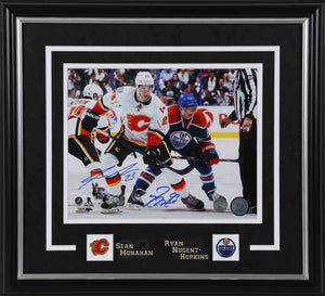 Ryan Nugent-Hopkins vs Sean Monahan Dual Signed 8x10 Photo