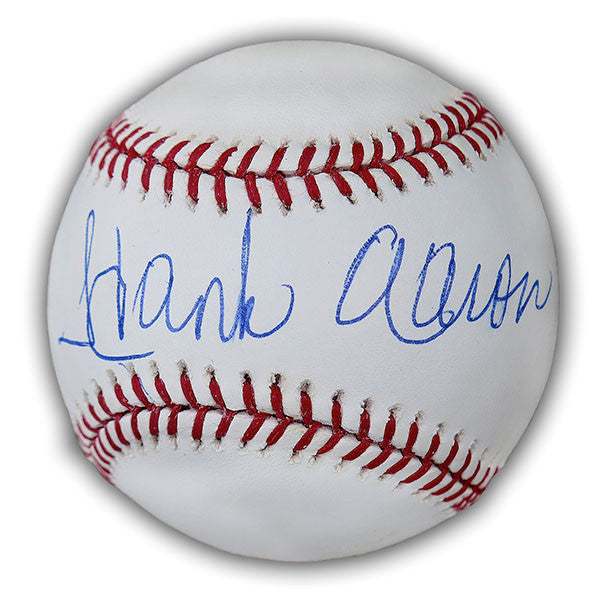 Hank Aaron Autographed Official MLB Baseball